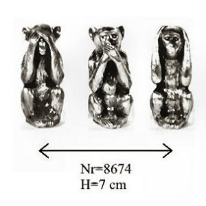 Set de 3 Singes Assis 8674.S
