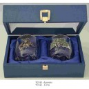 "Set Coffret de 2 Verres Baies ""AMORAS"", 90143.F"